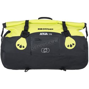 Black/Fluorescent Yellow Aqua-T 70 Liter Weatherproof Roll Bag - OL473
