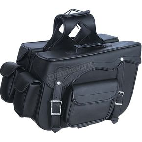 Black PVC Quick Release Saddlebags w/Removable Yoke - 9327.PL