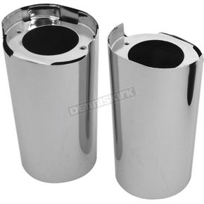 Chrome Front Fork Slider Cover Set - 45600022