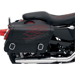 Saddlemen Jumbo Highwayman Tattoo Saddlebags w/Red Flames - X021-05-0422