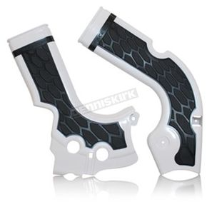 Acerbis White/Black X-Grip Frame Guards - 2630711035