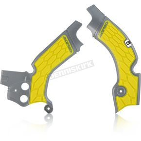 Acerbis Gray/Yellow X-Grip Frame Guards - 2630531120