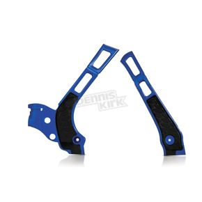Acerbis Silver/Blue X-Grip Frame Guards - 2464741404