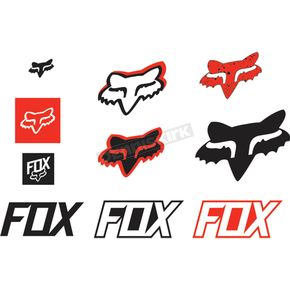 Fox Red Track Pack Sticker Sheet - 14935-003-NS