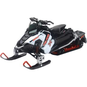 New Ray Toys White Polaris Switchback Pro-X800 Snowmobile 1:16 Scale Die Cast Model - 57783A