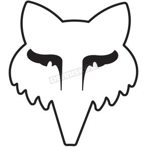 Fox White 3.5 in. Legacy Head Sticker - 14906-008-OS