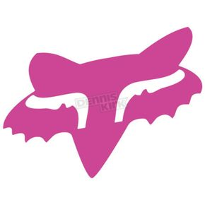 Fox Pink in. Fox Head Sticker - 14898-170-OS