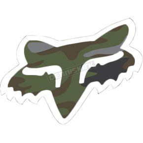 Fox Camo 7 in. Fox Head Sticker - 14901-027-OS