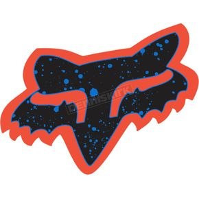 Fox Orange/Blue 7 in. Splatter Sticker - 14902-592-OS