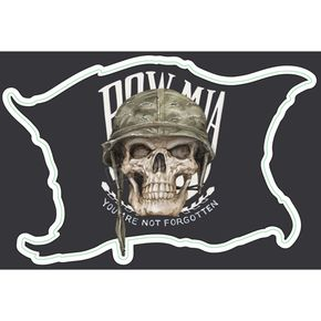 Lethal Threat Mini MIA Skull Decal - LT55032