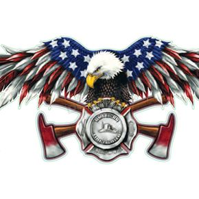 Lethal Threat USA FD Eagle Decal - LT00662