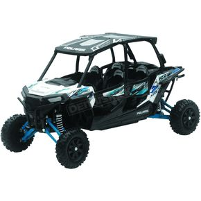 Polaris RZR XP 4 Turbo EPS Matte White Lightning 1:18 Scale Die-Cast Model - 57843B