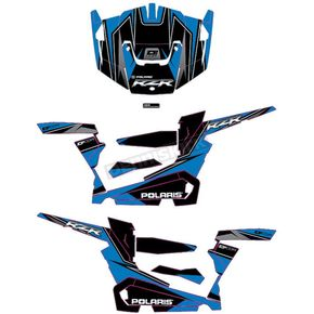 Blue/Black RZR Graphic Kit - 20-60-108