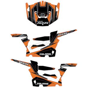 Orange/Black RZR Graphic Kit - 20-60-114