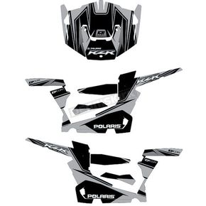 Silver/Black RZR Graphic Kit - 20-60-118