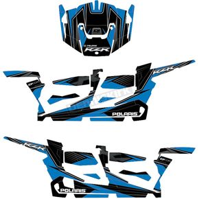Blue/Black RZR Graphic Kit - 20-60-109