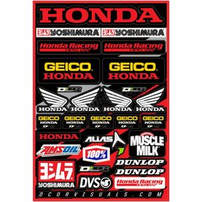 Universal Honda Geico Decal Sheet  - 40-10-114