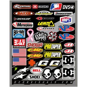 Universal Helmet Logo Decal Sheet  - 40-90-104