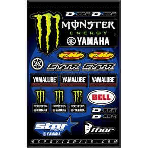 Universal Star Yamaha Monster Decal Sheet  - 40-50-117