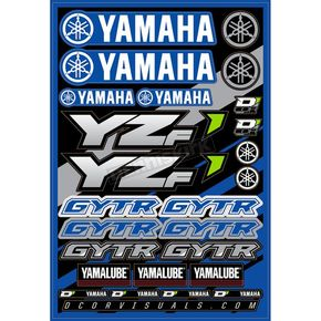 Universal Yamaha YZF Decal Sheet  - 40-50-100