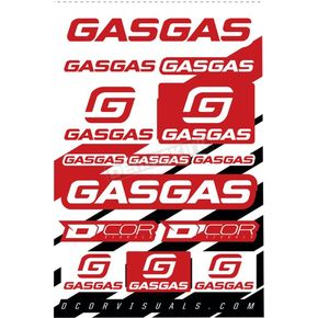 Gas Gas Universal Decal Sheet - 40-65-100