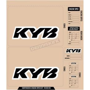 KYB Suspension Decal Sheet - 40-80-143