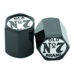Jack Daniels Black/Chrome Old No.7 Valve Stem Covers - 106-239