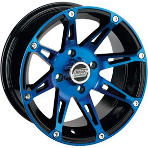 Rear Blue/Black 387X 14x8 Wheel - 0230-0808