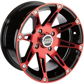 Rear Red/Black 387X 12x8 Wheel - 0230-0812