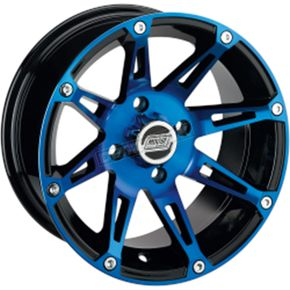 Front Blue/Black 387X 12x7 Wheel - 0230-0863
