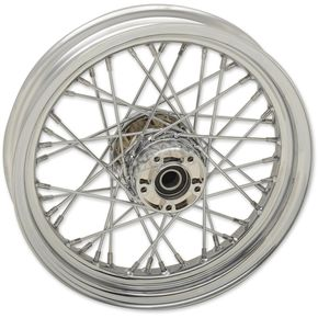 Chrome Front 16x3 40-Spoke Laced Wheel w/ABS - 0203-0619