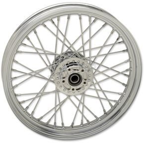Chrome Front 19x2.5 40-Spoke Laced Wheel w/ABS (Single Disc) - 0203-0622