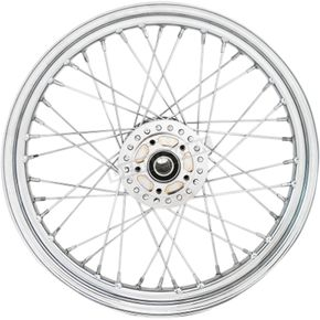 Chrome Front 19x2.5 40-Spoke Laced Wheel w/ABS (Single Disc) - 0203-0626