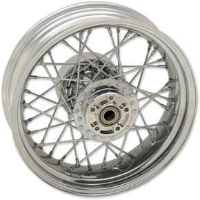 Chrome Rear 16x5 40-Spoked Laced Wheel w/ABS - 0204-0517