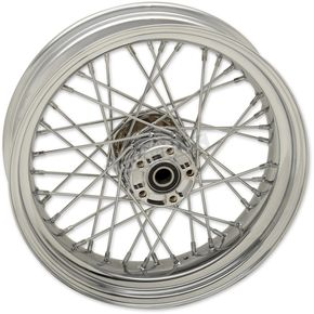 Chrome Rear 17x4.5 40-Spoked Laced Wheel w/ABS - 0204-0519