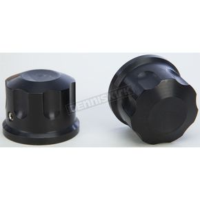Rooke Customs Black Front Axle Covers - R-TAC101-TB