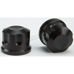 Rooke Customs Black Front Axle Covers - R-TAC102-TB