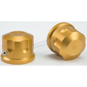 Rooke Customs Gold Front Axle Covers - R-TAC102-T6
