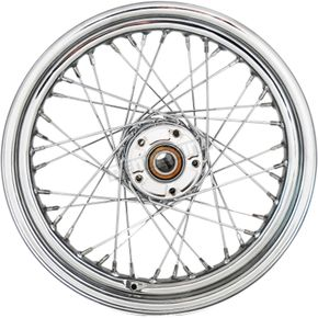 Chrome Rear 16x3 40-Spoke Laced Wheel (Non-ABS) - 0204-0522
