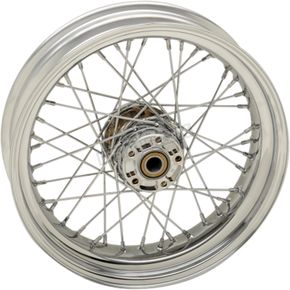 Chrome Rear 17x4.5 40-Spoke Laced Wheel (Non-ABS) - 0204-0523