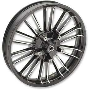 Black Front 21 x 3.5 Precision Cast Atlantic 3D Wheel (Non-ABS) - 0201-2224