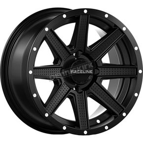 Black Front/Rear Hostage Raceline 14x7 Wheel - 570-1622