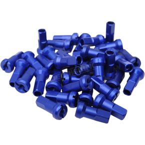 Blue MX1 Billet Spoke Nipple Set - 0211-0189