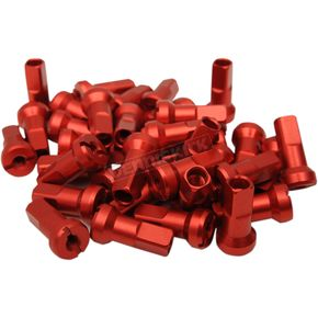 Red MX1 Billet Spoke Nipple Set - 0211-0190