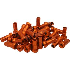 Orange MX1 Billet Spoke Nipple Set - 0211-0192