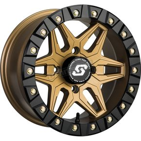 Bronze Front/Rear Split 6 Beadlock 14x7 Wheel w/12mm Tapered Lug - 570-1342