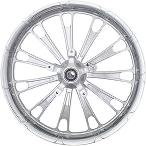 Front Chrome 19 in. x 3 in. Forged Fuel Aluminum Wheel for ABS - 2502-FUL-193-CH