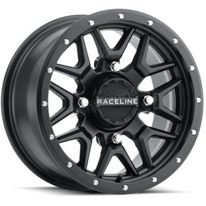 Black Raceline A94 Krank Simulated Beadlock 14x7 Wheel - 570-1680