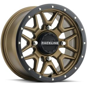 Black/Bronze Raceline A94 Krank Simulated Beadlock 14x7 Wheel - 570-1672