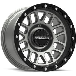 Black/Gray Raceline A93 Podium Beadlock 15x6 Wheel - 570-1655